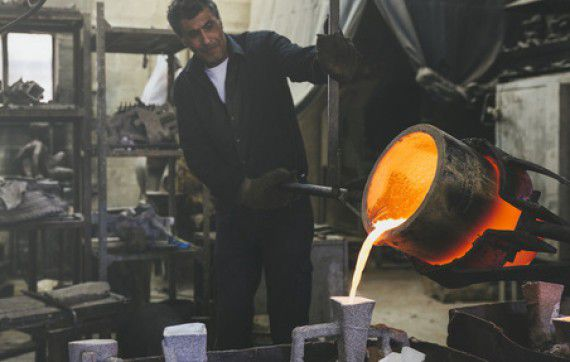 work in a foundry